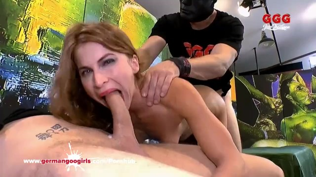 Thirsty for Cum MILF enjoys a hardcore gangbang – German Goo Girls