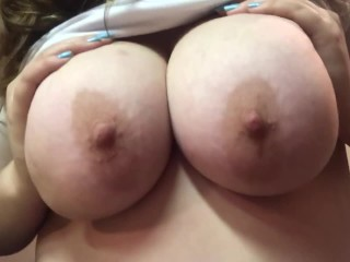 Hot brunette plays amazing tits...