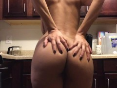 Naked Kitchen Ass Clapping