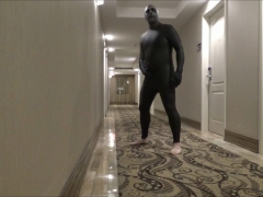 wearing halloween makeup almost caught changing wetsuits in hotel hall