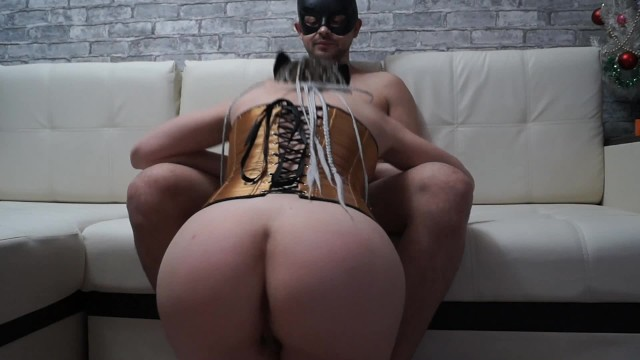 Rough fuck in all holes of a beautiful studen in a mask 19
