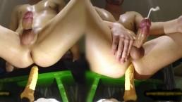 big plastic dick gave me a shaking sissy orgasm