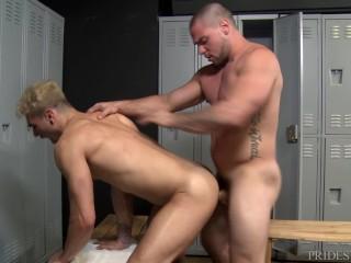 ExtraBigDicks Big Dick Jock Fucks Skinny Blonde Guy In Locker Room