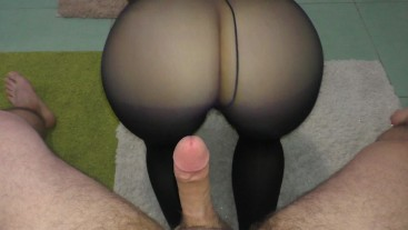 Teen Big Ass - Quick morning sex in leggings