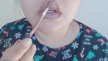 Lipstick Application (Lip Fetish)