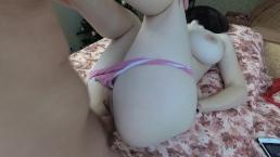 アマチュアアナルとともに大おっぱい十代の彼女-精液で彼女の尻