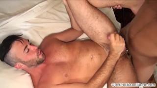 Dicksucking stud cums while anally drilled Big muslim