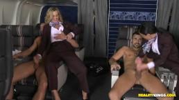 RealityKIngs- Milf flight attendants Tonya & Veronica get their ass fucked