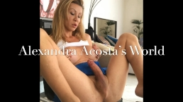 Beautiful Shemale with big cock masturbating