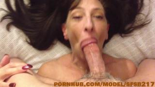 Sexy Step Mom sucks the cum out of piano mans big cock