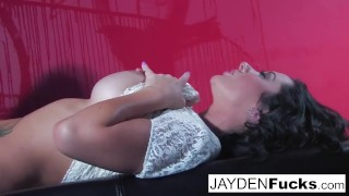 Naughty gets a jaymes against wall red jayden pornstar jaymes