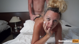 Big tits MILF gets hard rought morning sex and moans when she cums hard