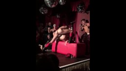 GUY FUCKS ON STAGE IN CLUB