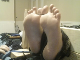 Wife Toe Tied In The Stocks And Tickled