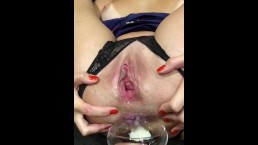 Fuck russian milf in her ass and eat cum