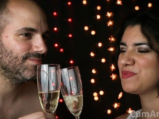 Happy New Year 2019! Cum & Champagne, how classy! (Cum on food 4)