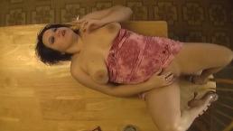 Smoking and Masturbating on the Kitchen Table - ALHANA WINTER vintage clip