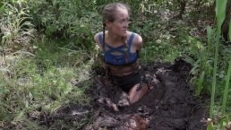 girl get tied and chased back into quicksand