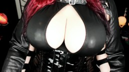 Dildo Titfuck Fucking my big Boobs in Wetlook Outfit
