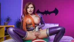 VRCosplayX.com Curvy Redhead STARFIRE Wants Your Fat Cock In Her Ass