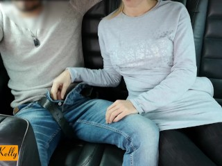 Horny couple having fun in Uber. WetKelly