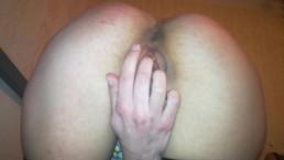 Fast action, masturbating before work. Pulsing anal orgasm