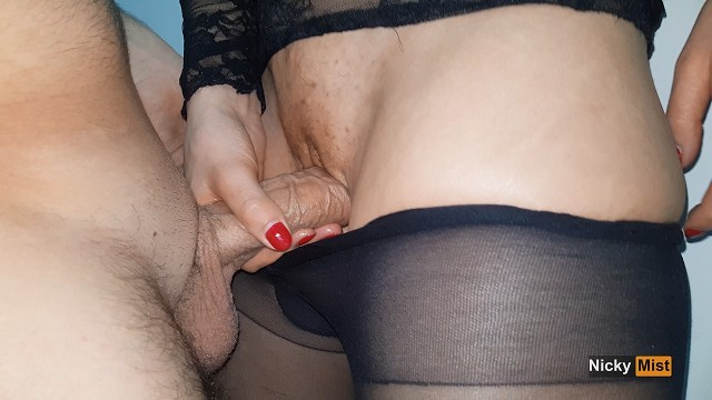 Driving wearing pantyhose - Cumming in my black pantyhose and pull them up - nicky mist 4k