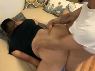 Rough Muscle Top Fucks Fat Bubble Butt Bareback