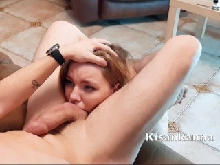 Teen girl make HARD DEEPTHROAT and rim job! For GagandRim
