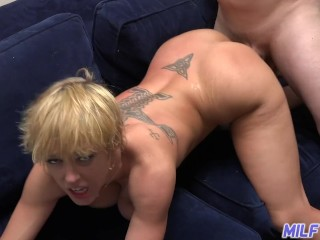 MILF Trip – Hot blonde MILF absolutely loves the dick – Part 2