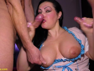Extreme with chubby busty milf...