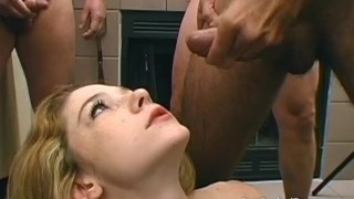 Teen sucks off old mens cocks before cum soaking