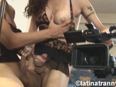 Nikki Montero and Argie T-girl Prostitute Blowjobs and CUM on face