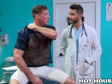 HotHouse Big Dick Jock In Pain & Daddy Doctor Has The Cure