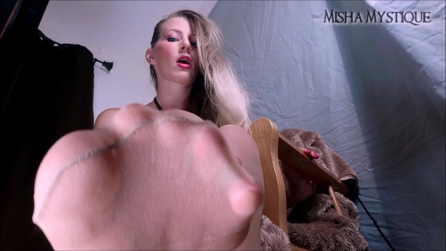 Pantyhose cum video Teaser - only allowed to cum for my feet - femdom pov joi pantyhose