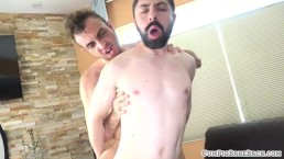 Unsaddled bear cumsprayed by horny stud