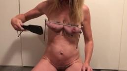 Painslut challenge: CUM in 60 seconds! Brutal boobs & nipple torture