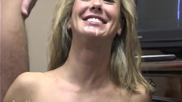 Brandi Love gets a big load of jizz in her mouth in the office 47