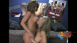 Brandi and Jennifer lick each other's pussies in a dorm room