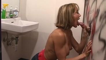 Brandi Love gives an amazing blowjob at the glory hole