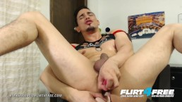 Alexanders L on Flirt4Free - Sexy Toned Latino Stud Cums w Dildo in His Ass
