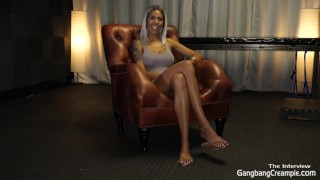 Milf wants to get gangbang for the first time takes 8 dicks