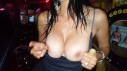 Part 5 Naughty in Public - Bar Bathroom Fuck - Lydia Luxy Upskirt