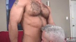 Showing this young jock how to take a mature dick