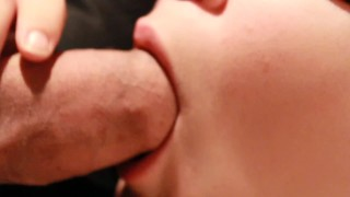 Soft Sloppy Foreskin Blowjob And Licking Up A Mouthful Of Warm Cum Off masturbate
