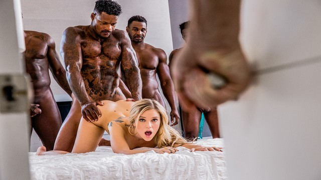 Six mile bottom - Blacked kali rose gets passed around by six bbcs