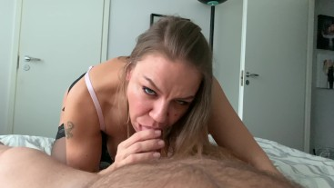 4K POV horny blowjob with dirty cumplay -Jan Hammer