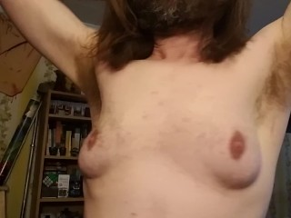 nikita - Hairy armpit show rub, lick, deodorant application