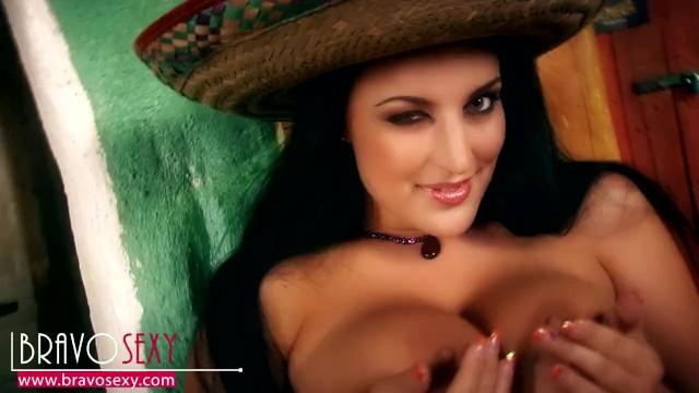 066 - Busty Carmen Croft - Mexico girl - BravoSexy softcore strip clips 11