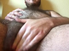 Huge Belly Pregnant FTM Rubs Wet Pussy - REAL MPREG